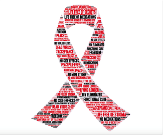 HIV cure ribbon