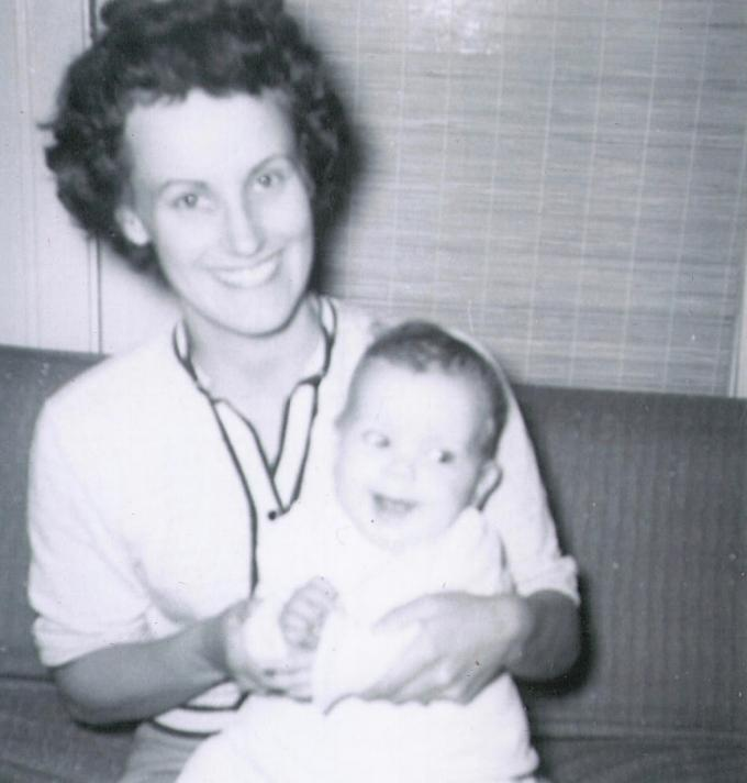 Mom with baby Jeff