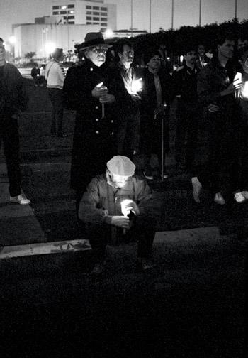 San Francisco City Hall, Candlelight March for AIDS #2