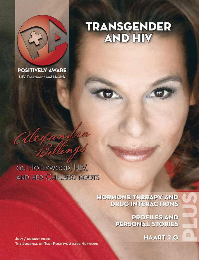 Alexandra Billings on the cover of the July+August 2008 issue