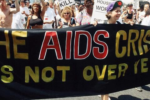 The AIDS Crisis is not over yet demonstration